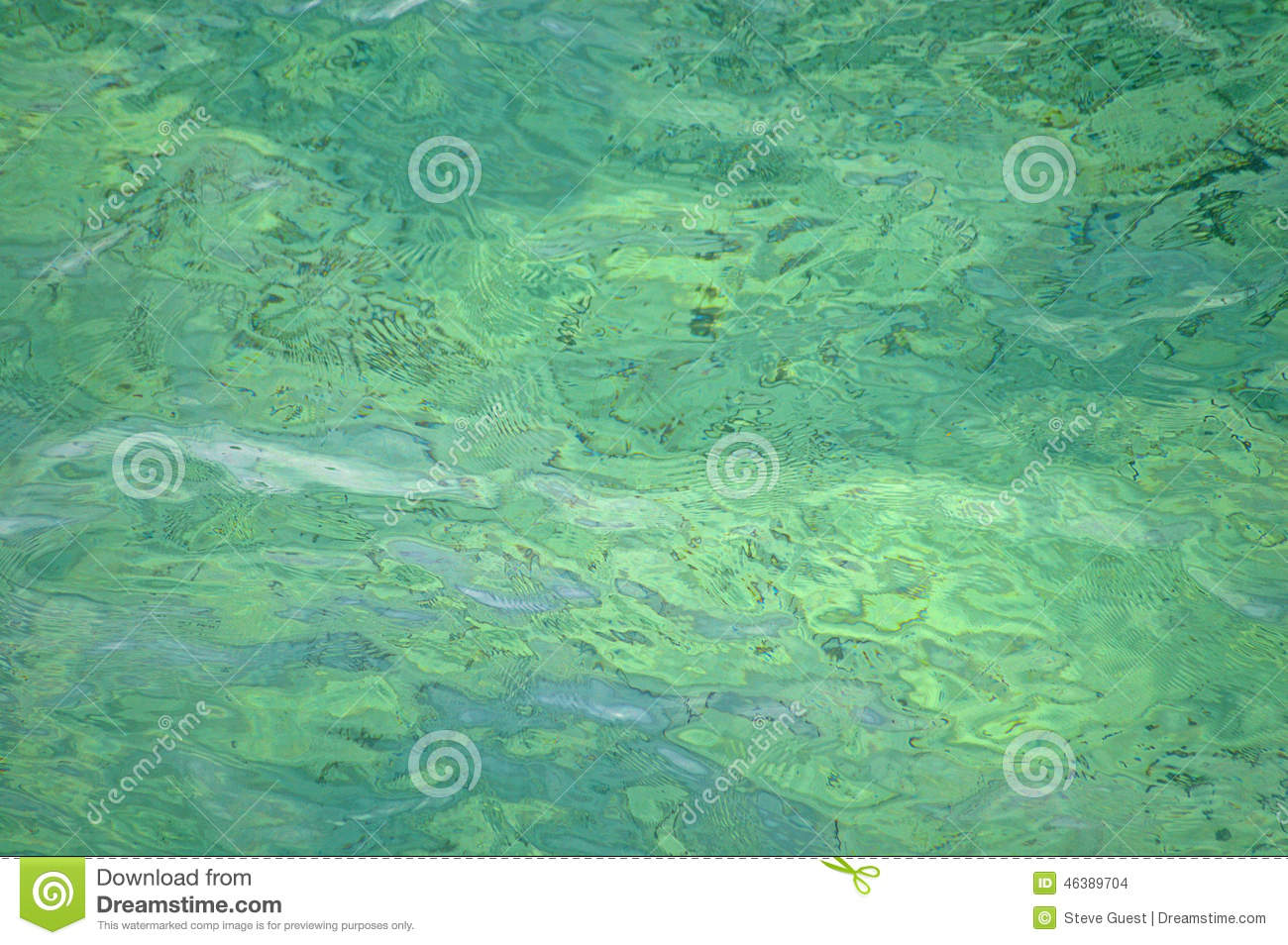 Green Water Coloured Sea Background