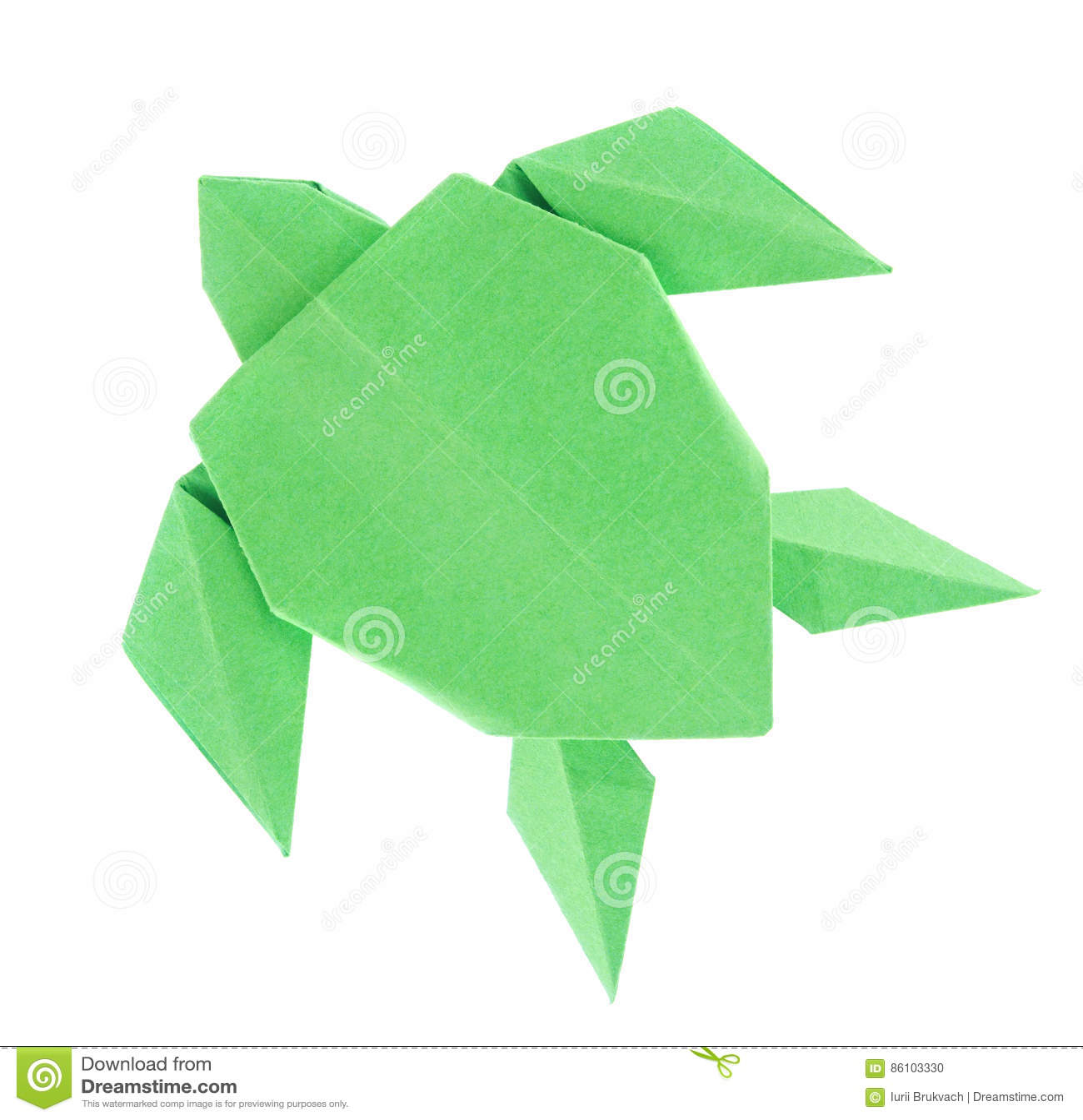 Green sea turtle of origami stock photo image 86103330 green sea turtle of origami jeuxipadfo Image collections
