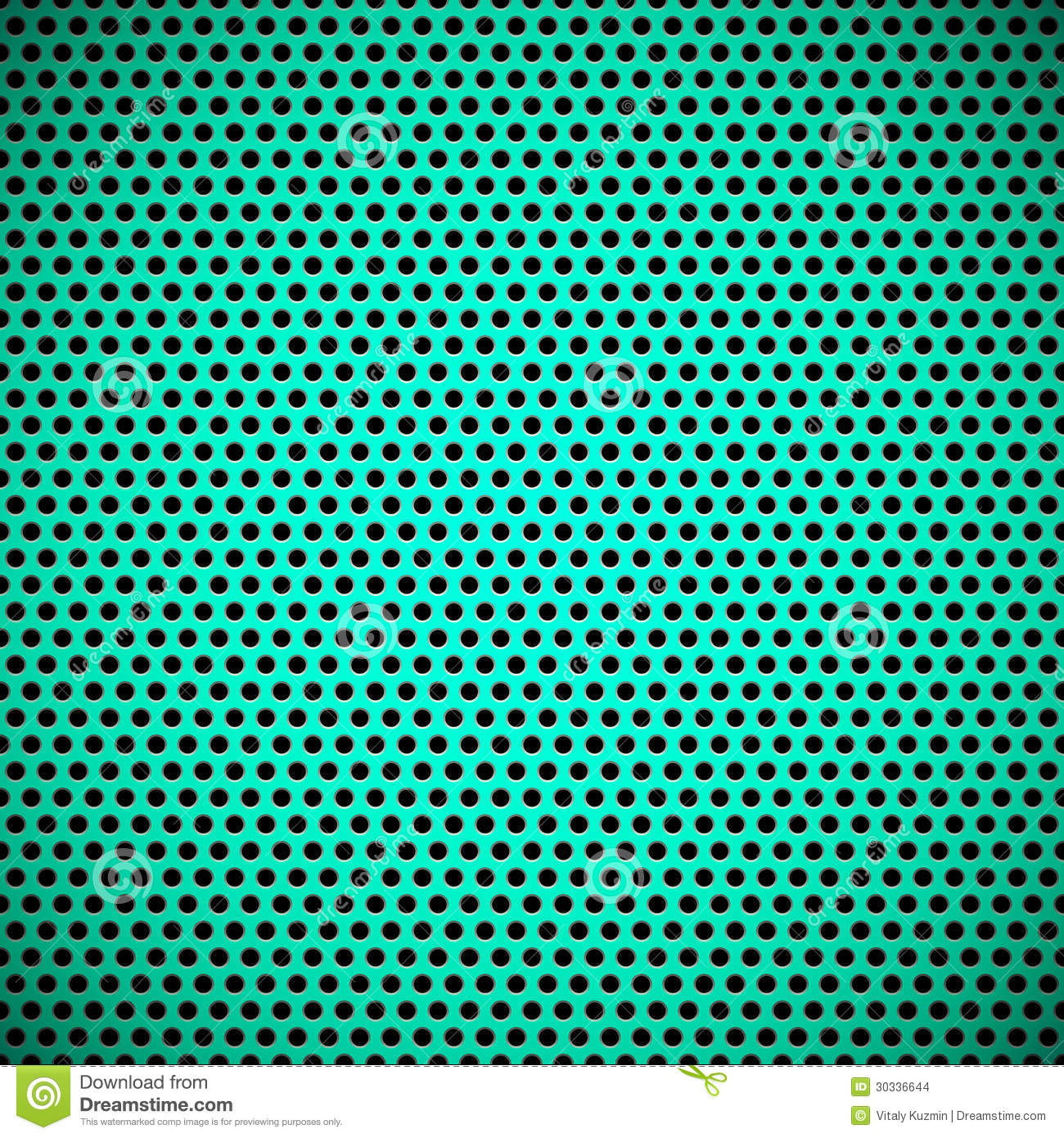 Green Seamless Circle Perforated Grill Texture Stock