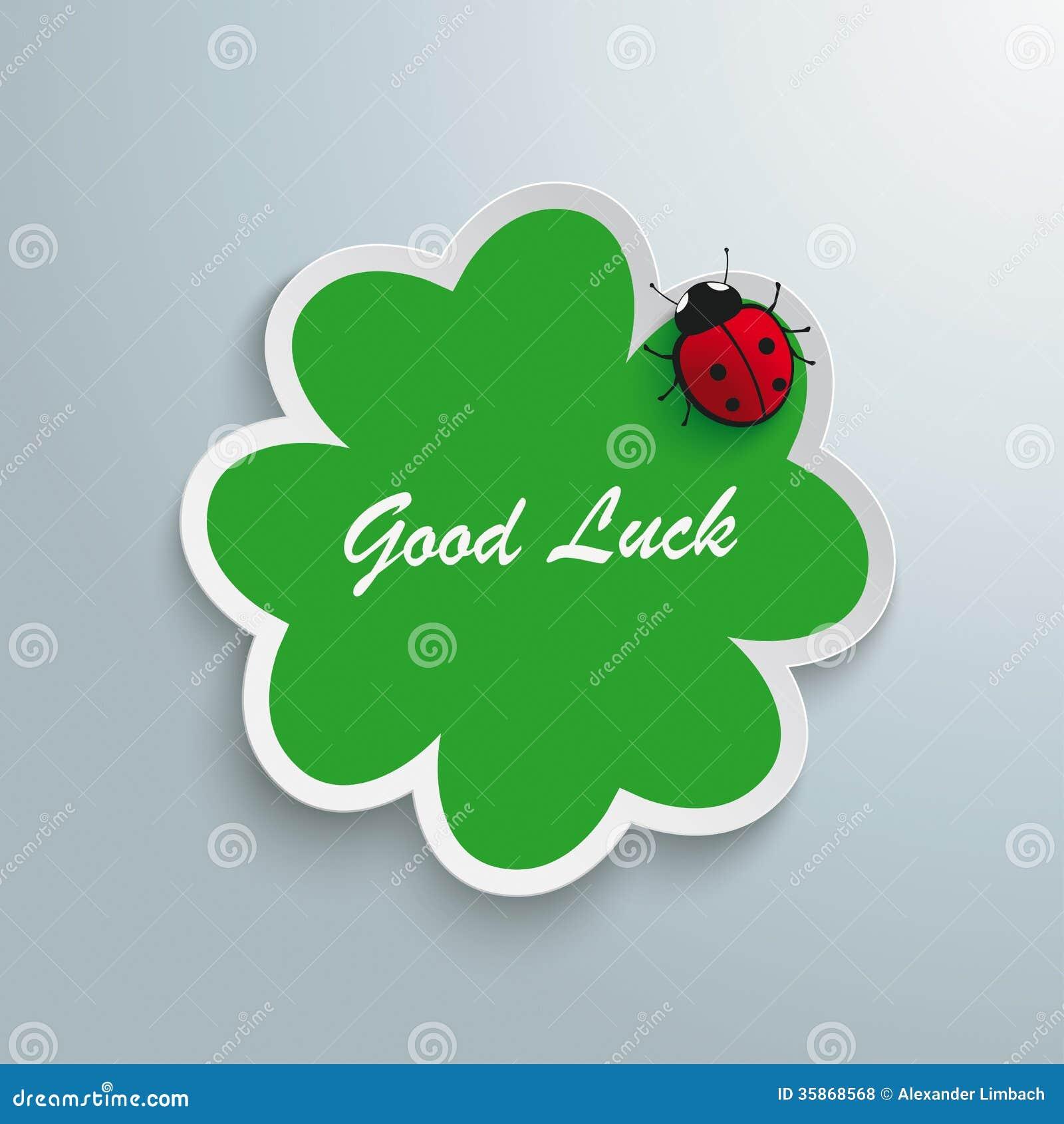 Green Shamrock Good Luck Ladybug Royalty Free Stock Photos - Image ...