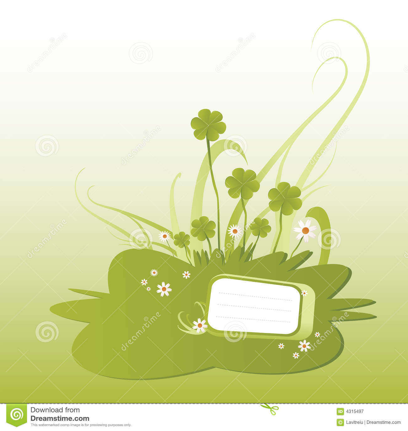 Green shamrock illustration