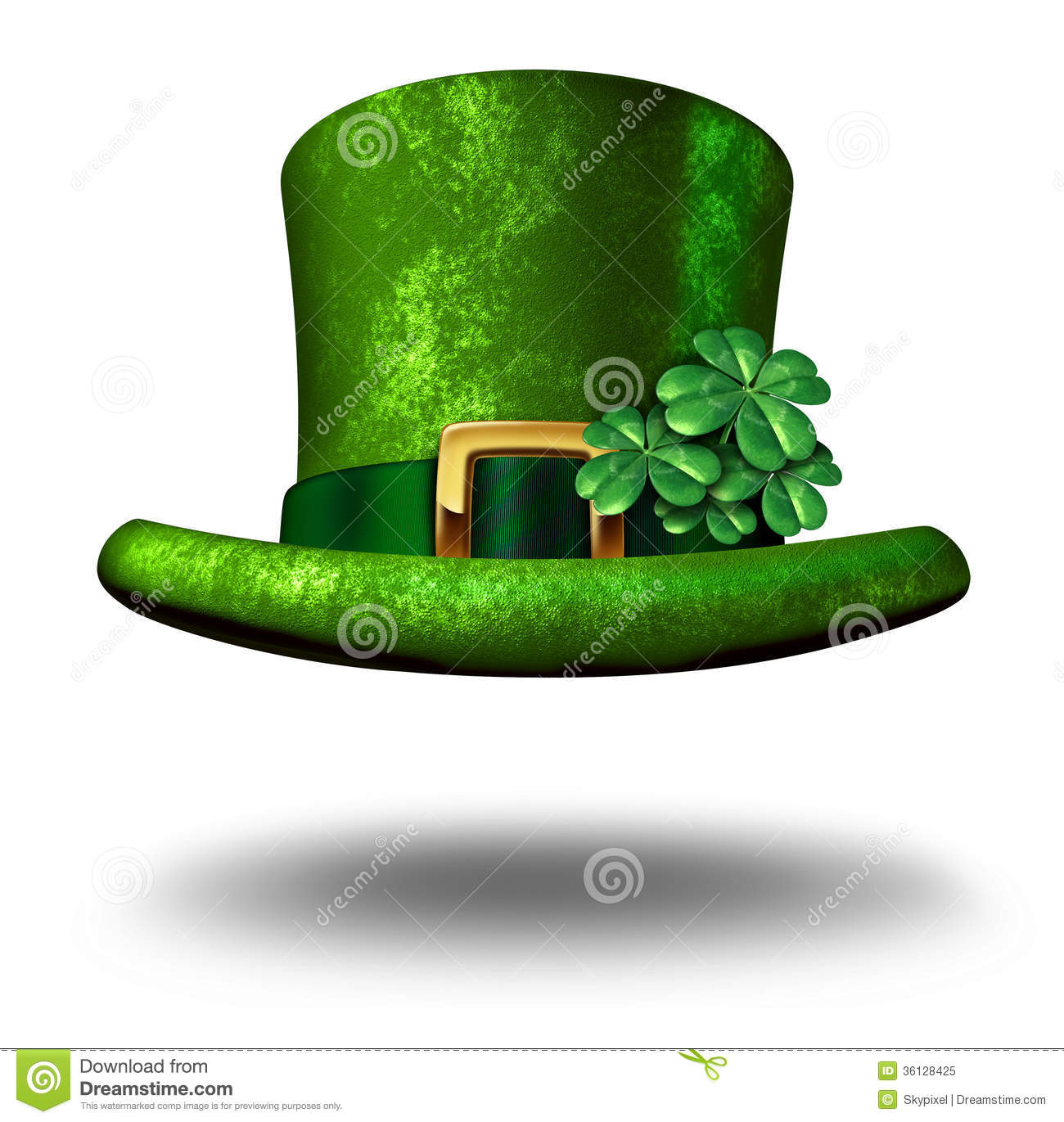 green shamrock top hat royalty free stock photo image four leaf clover vector free four leaf clover vector free