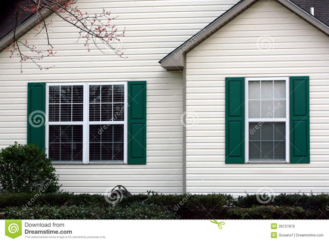 Green Shutters Stock Photo Image 39727876