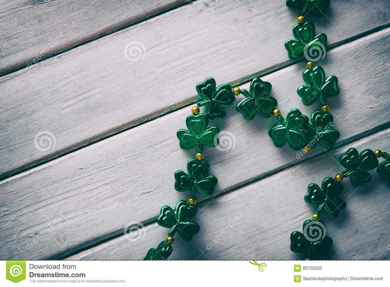 Green Simple St Patrick S Day Necklace Background Stock