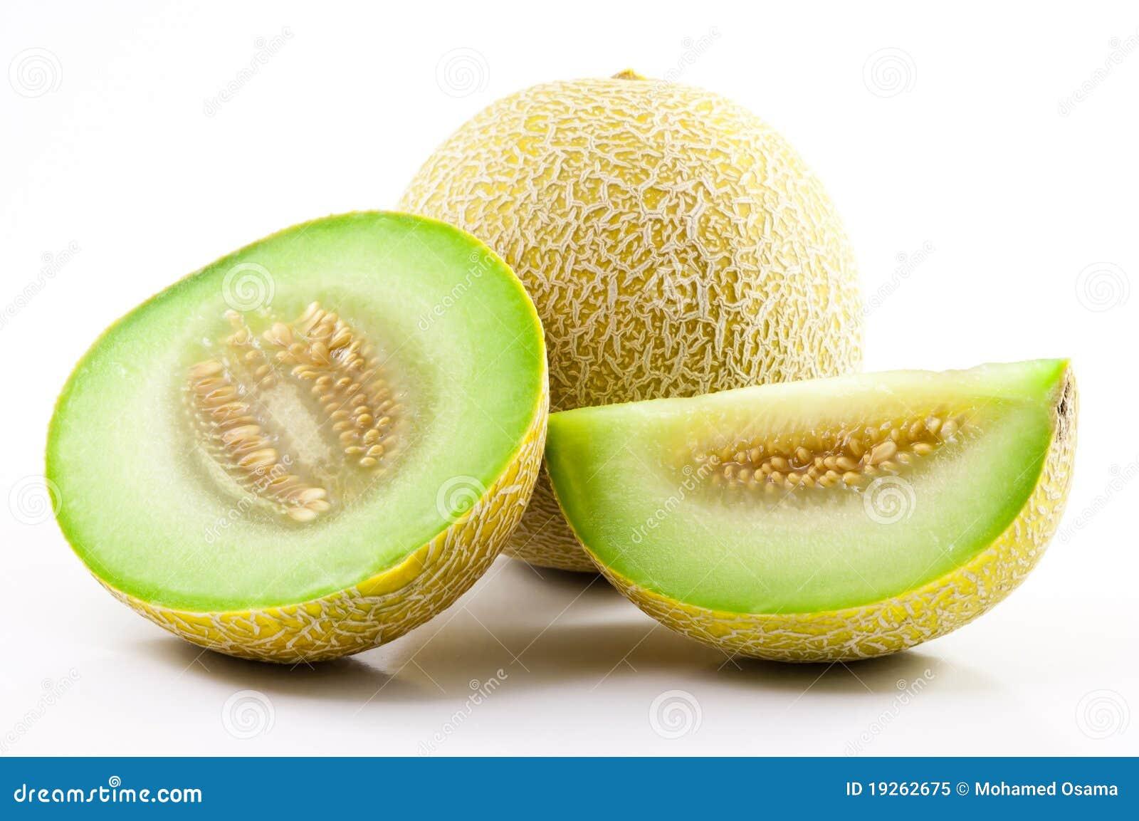 Green Sliced Cantaloupe