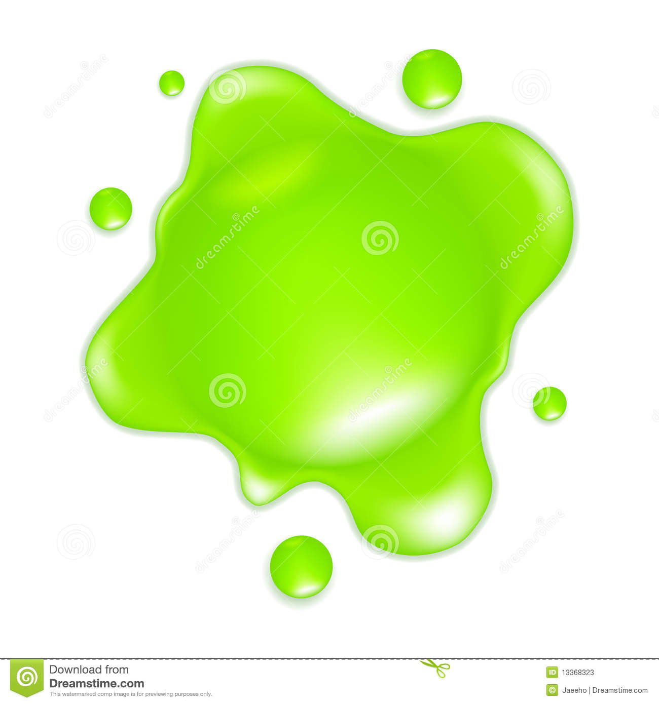 Green Slime Stock Vector Illustration Of Liquid Messy 13368323