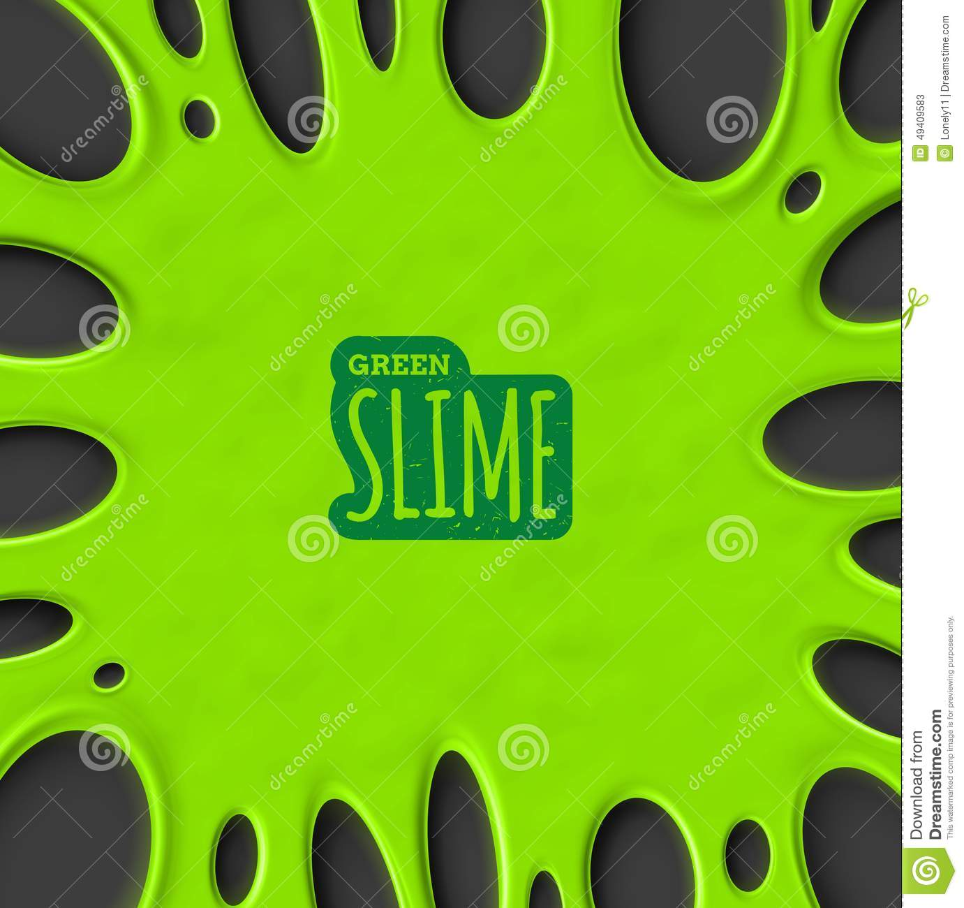 Green Slime Stock Vector - Image: 49409583