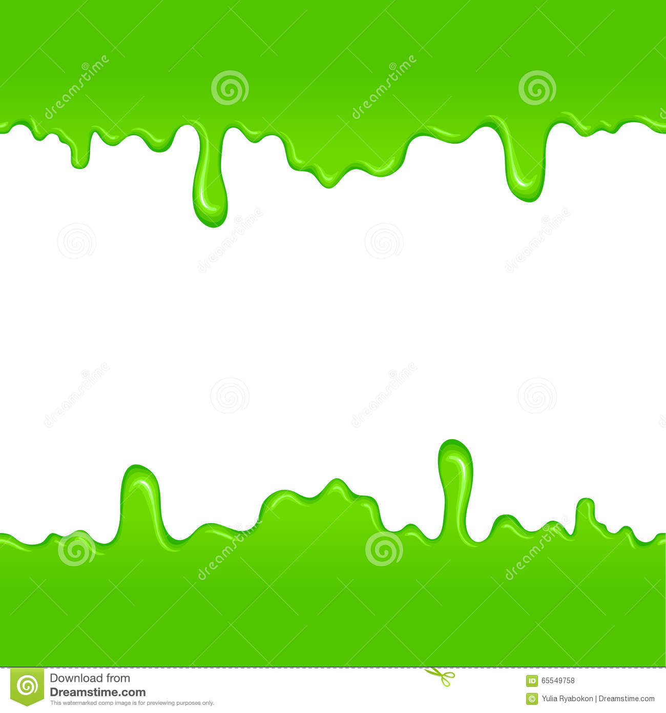 Green Slime Pattern Stock Vector Illustration Of Blob 65549758