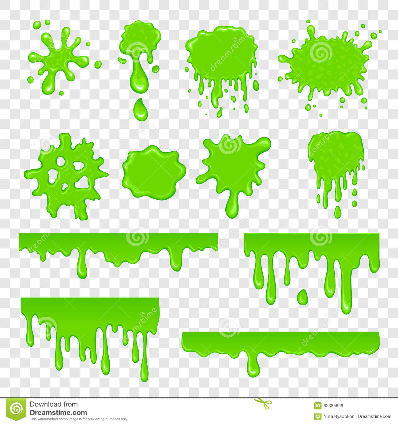 Dripping Slime Clipart - ClipartXtras