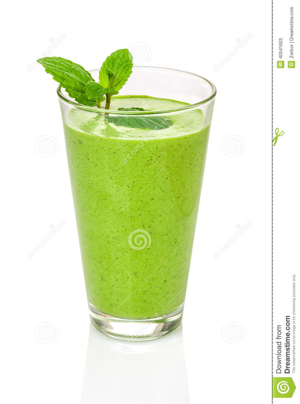 green smoothie with mint stock image image of nutrition 40541603. Black Bedroom Furniture Sets. Home Design Ideas