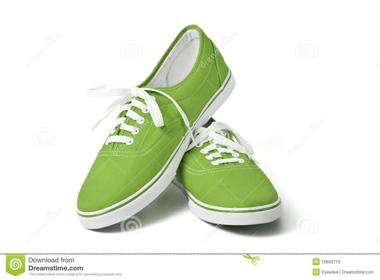 Green Sneakers Stock Photos - Image: 10600713