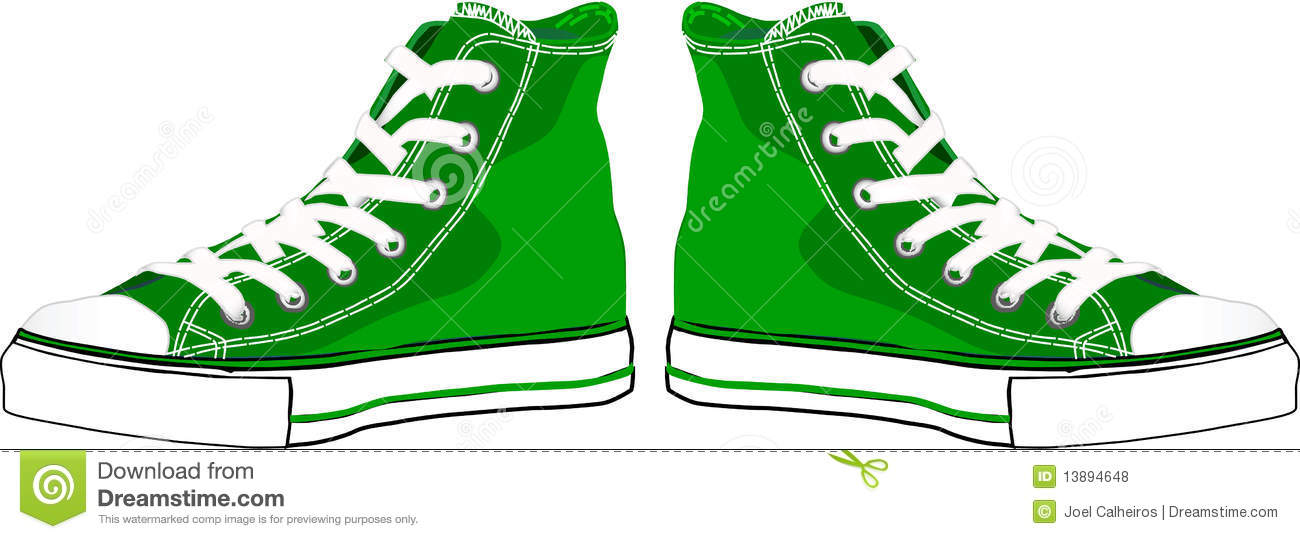 Green Sneakers Royalty Free Stock Photos - Image: 13894648