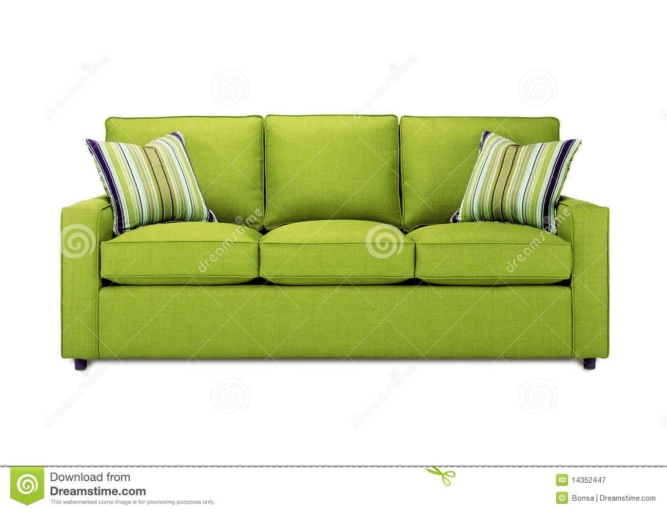 Green sofa royalty free stock photography image 14352447 - Sofa gratis ...