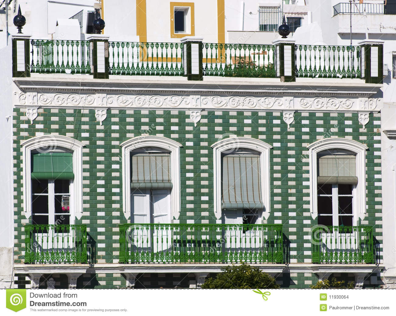 Green spanish balcony stock images image 11930064 for Balcony in spanish