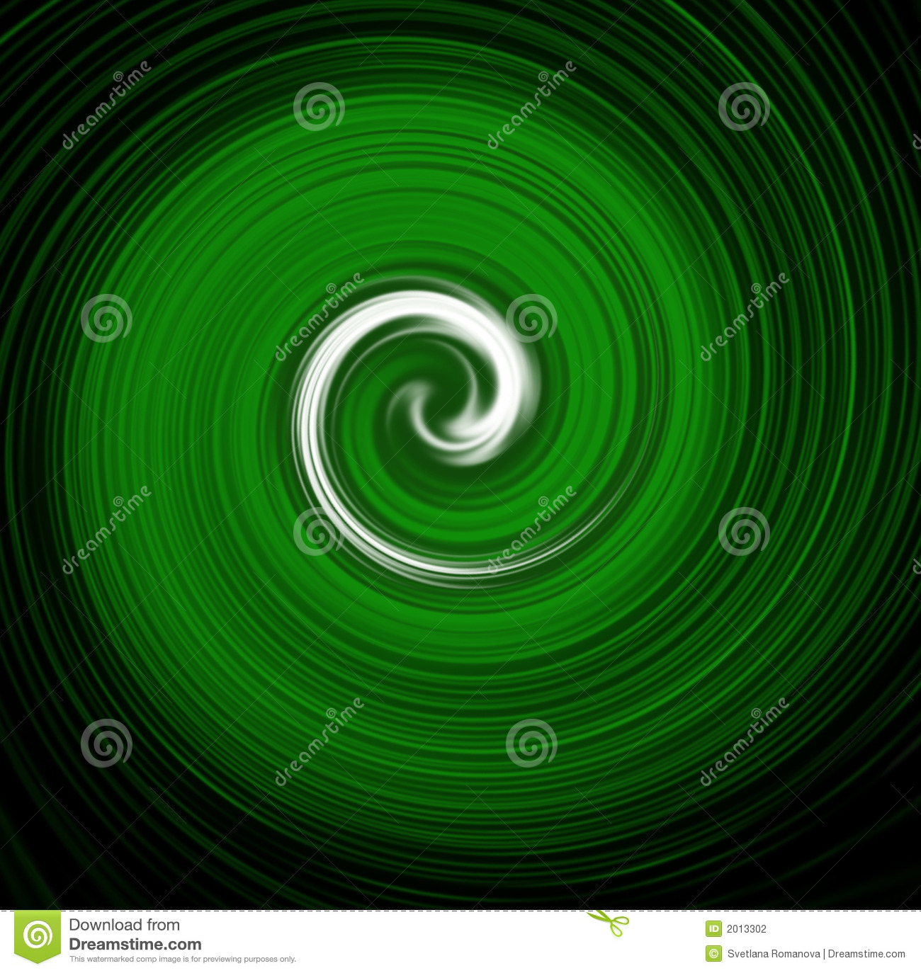 Green Spiral Wallpaper Stock Photography - Image: 2013302