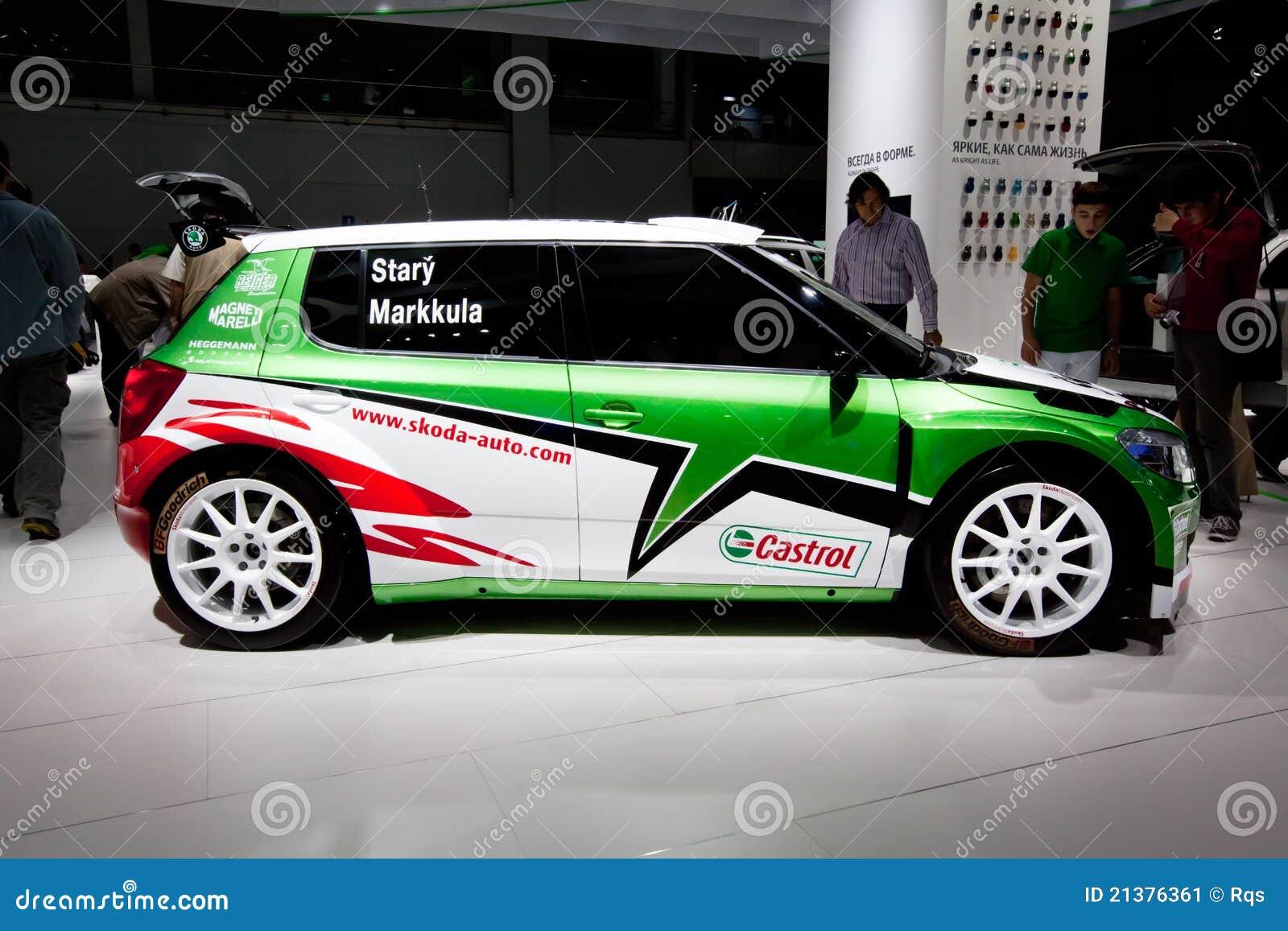 green sport car skoda fabia editorial photo image 21376361. Black Bedroom Furniture Sets. Home Design Ideas