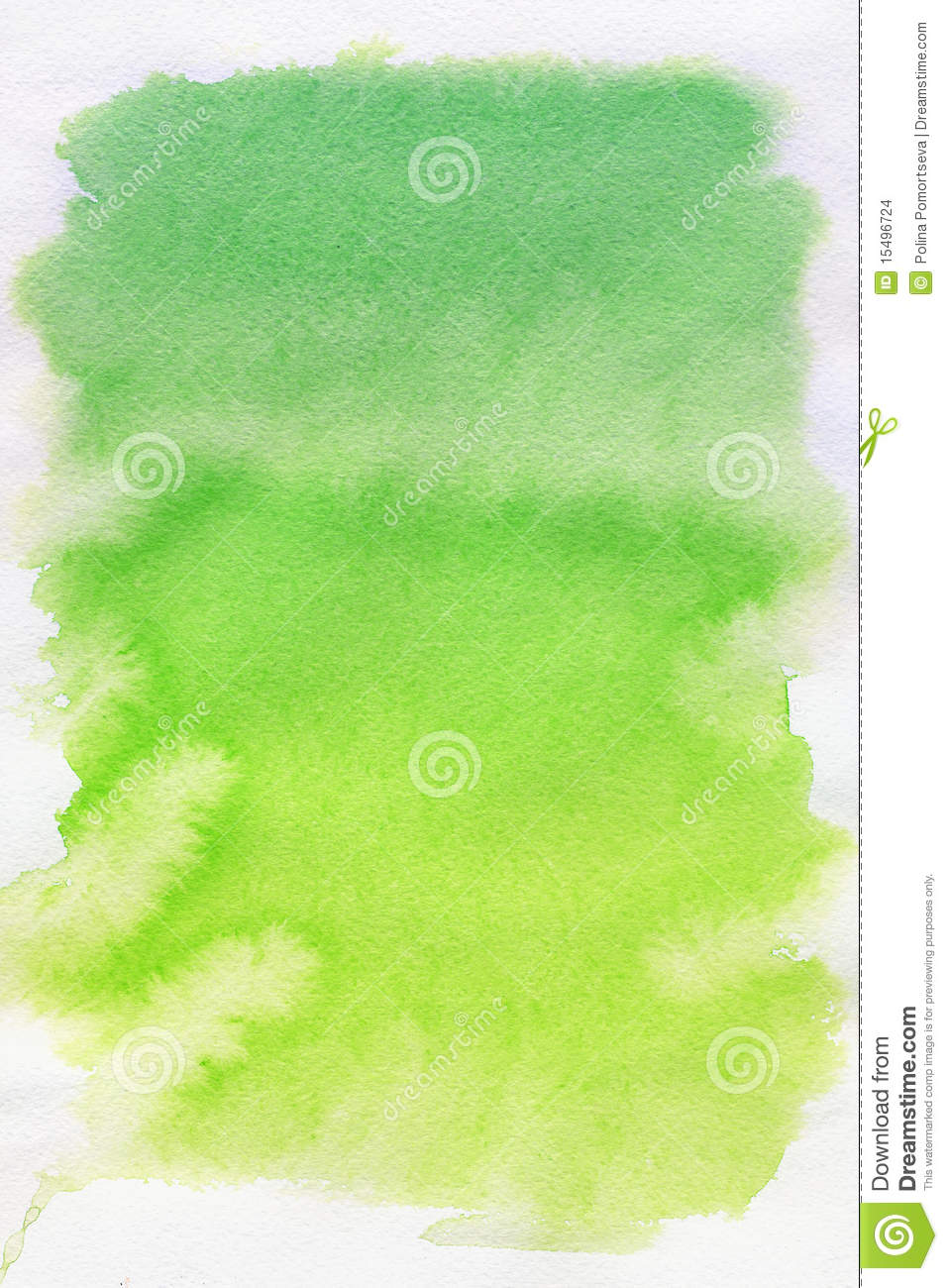 Green spot, watercolor abstract background