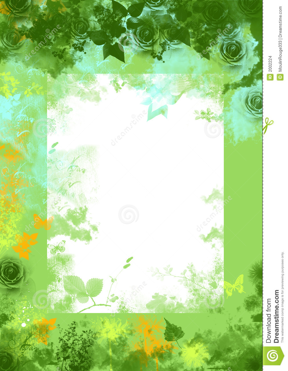 Download Green Spring Floral Grunge Background Stock Illustration - Illustration of green, butterfly: 2002224