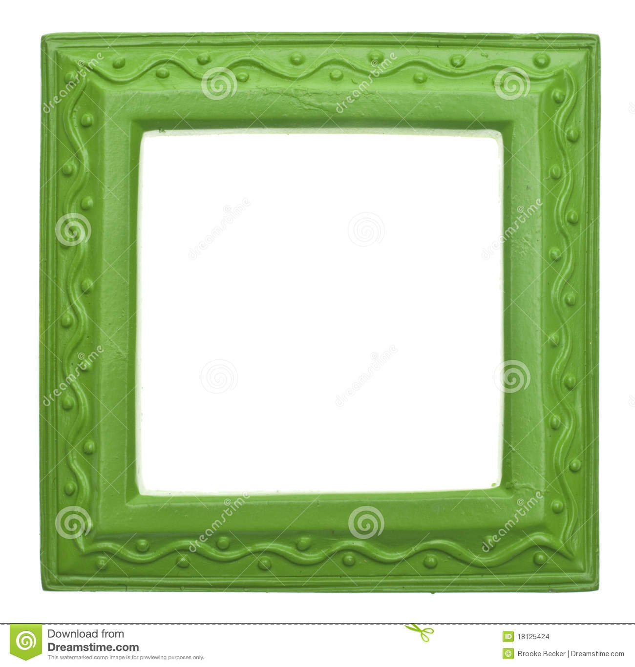 green square modern vibrant colored empty frame stock