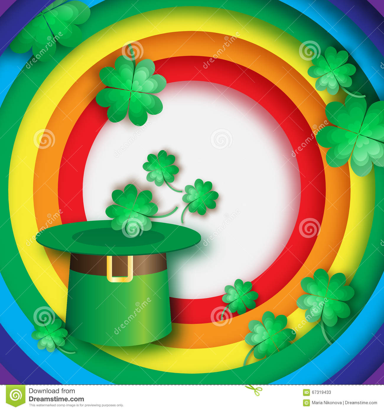 green st patrick u0027s day hat with clover hat of a leprechaun with