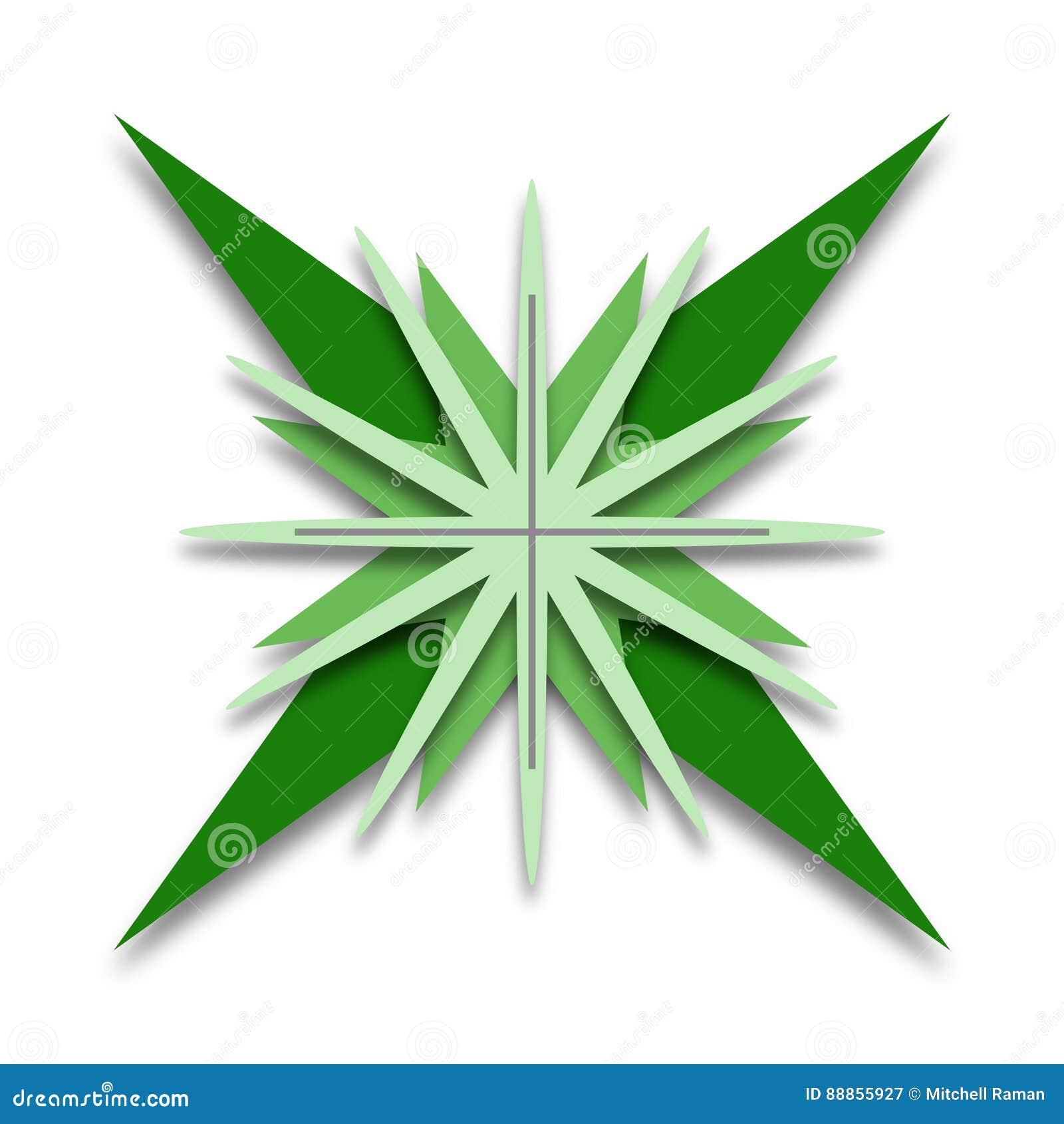 Green Star Shaped Logo Design Stock Vector - Illustration ...