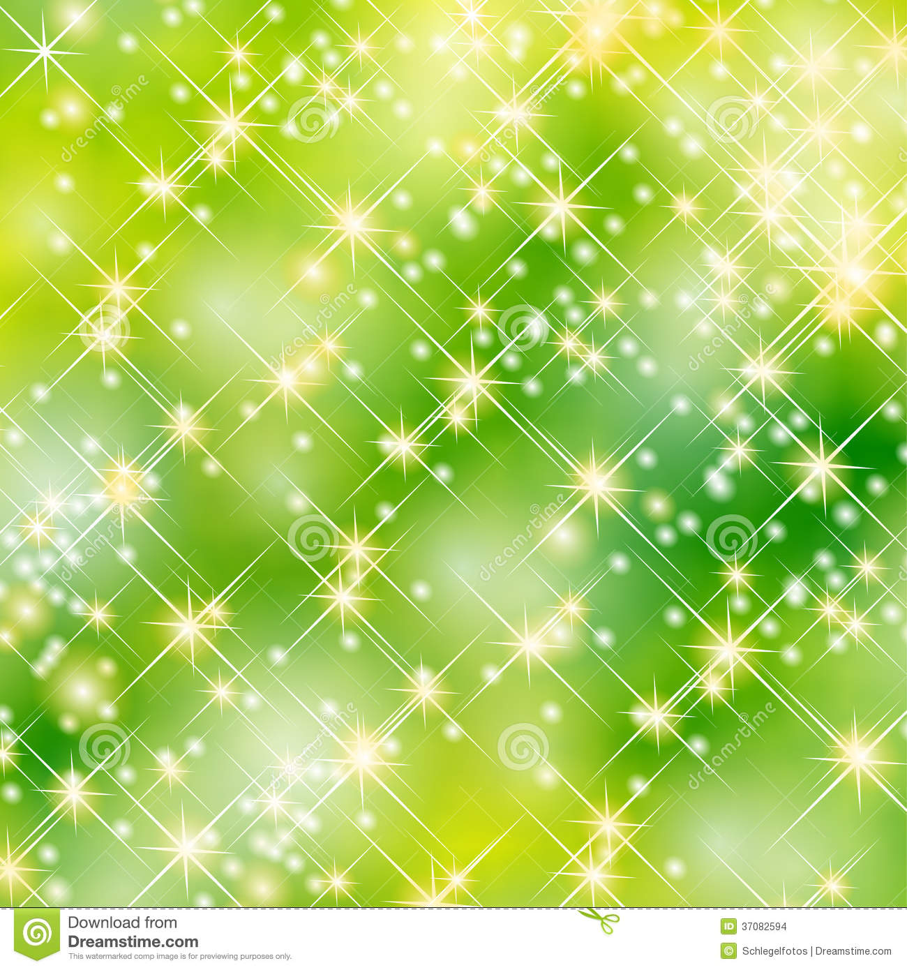 Green Stars Party Background Stock Images - Image: 37082594