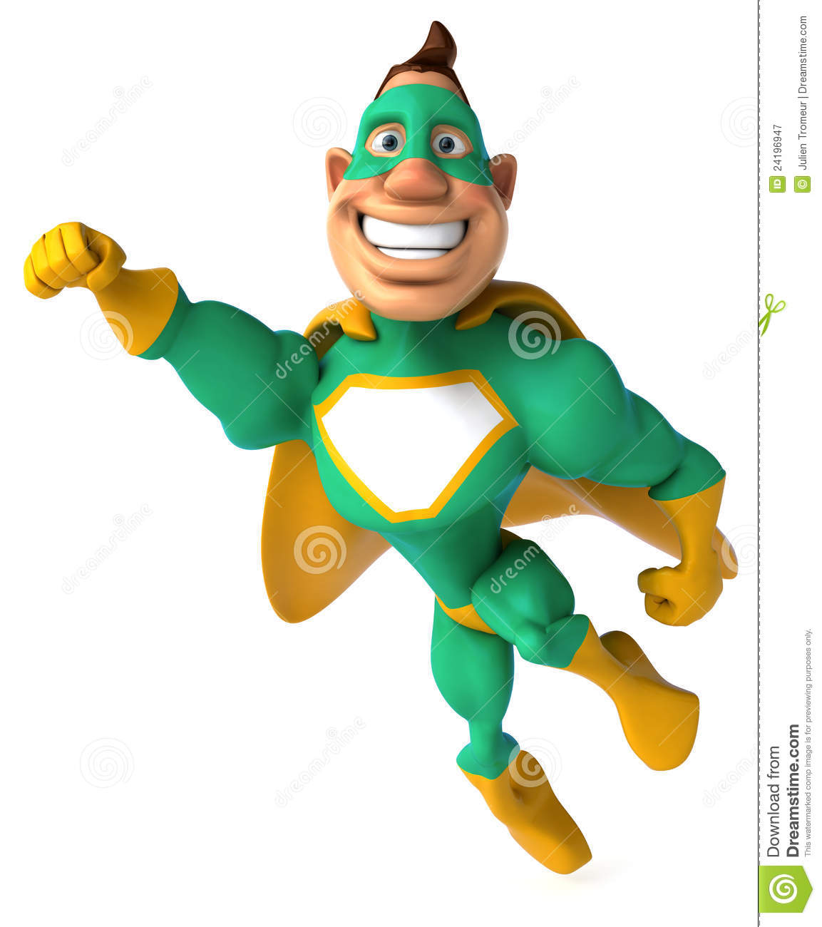 Green Superhero Royalty Free Stock Photography - Image: 24196947