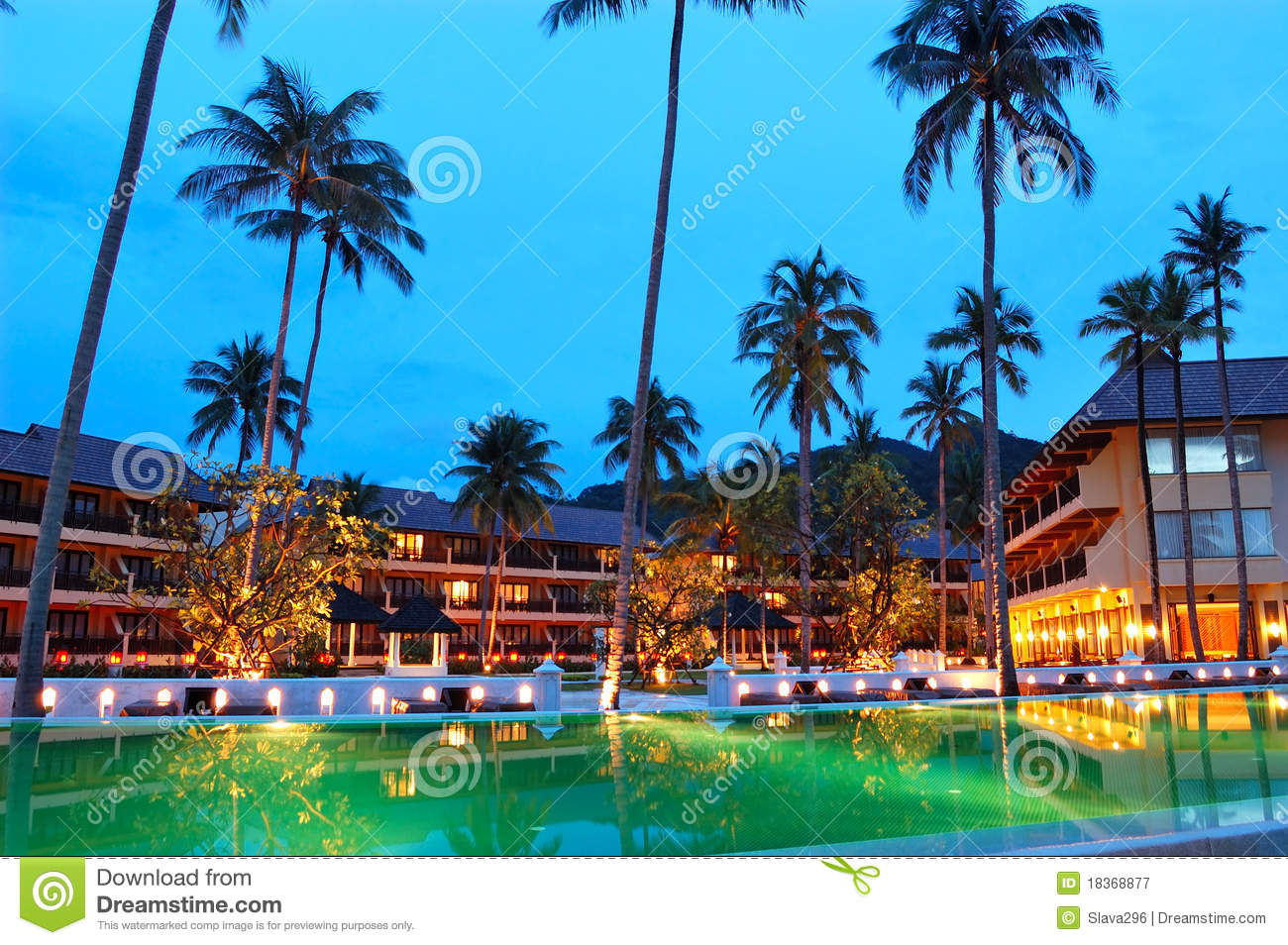 Green swimming pool near open air restaurant stock image - Where is my nearest swimming pool ...