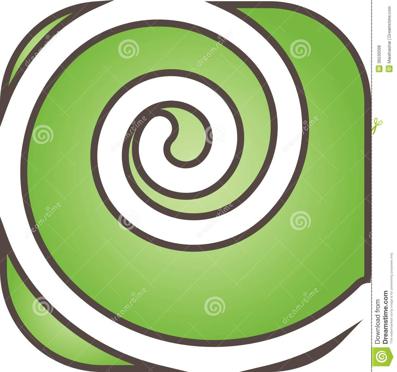 Green Swirl Royalty Free Stock Photos - Image: 36530098