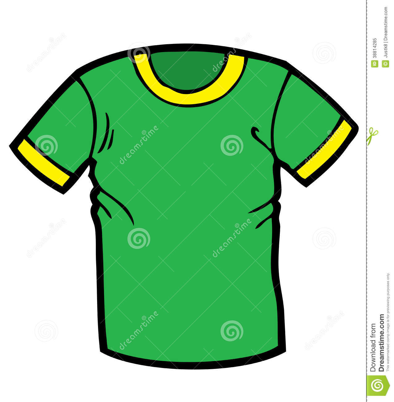 T Shirts Cartoon Characters : Green t shirt cartoon stock illustration of