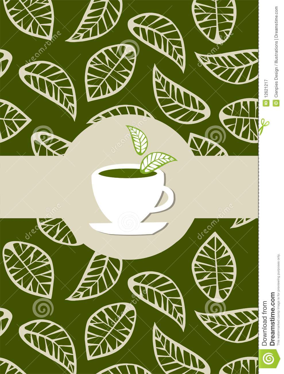 green tea package label royalty free stock photography
