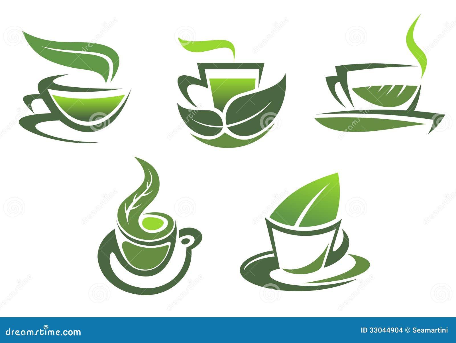 Vector Icon Of Green Tea Cup Stock Vector Yuliaglam Tea Leaf