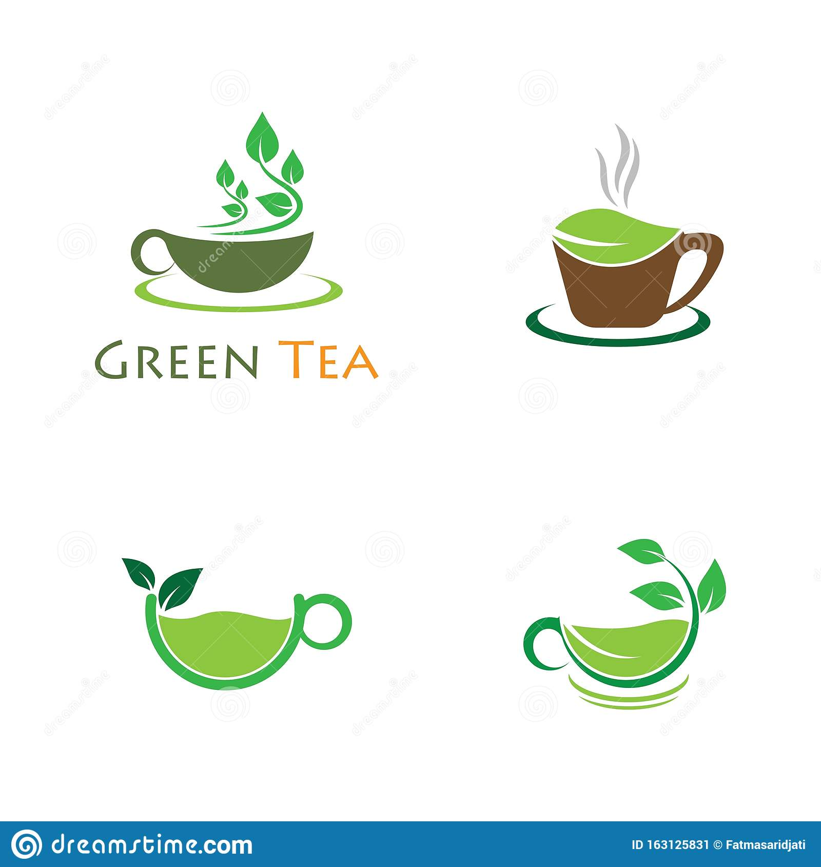 green tea vector logo illustration stock vector illustration of concept cafeteria 163125831 https www dreamstime com green tea vector logo illustration cup template icon design image163125831