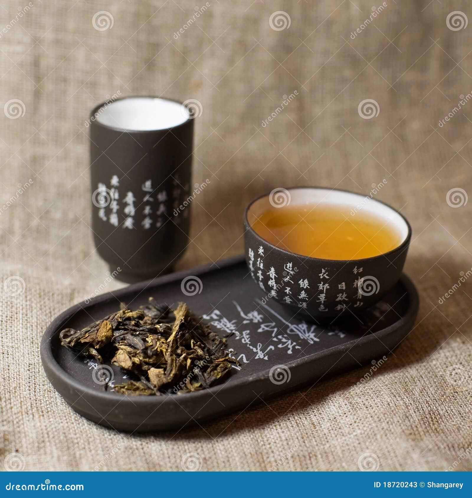 Green tea in ware