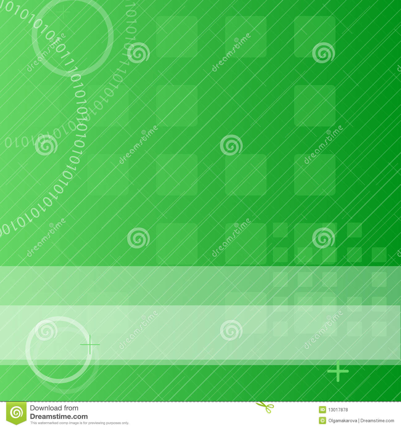 Green techno background