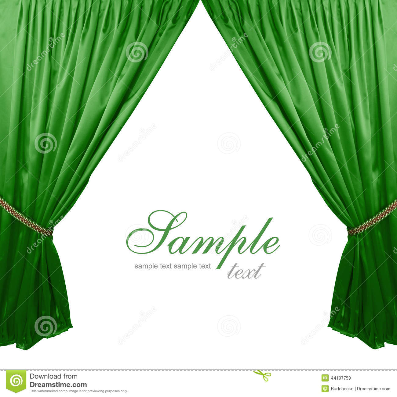 Green stage curtains - Green Theater Curtain Background Royalty Free Stock Images