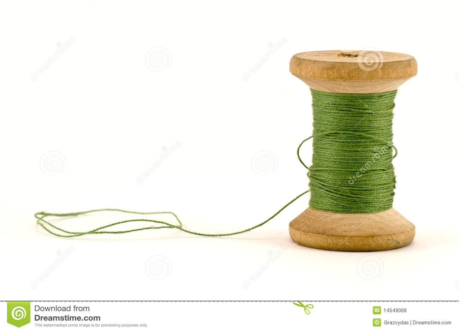 Green thread spool