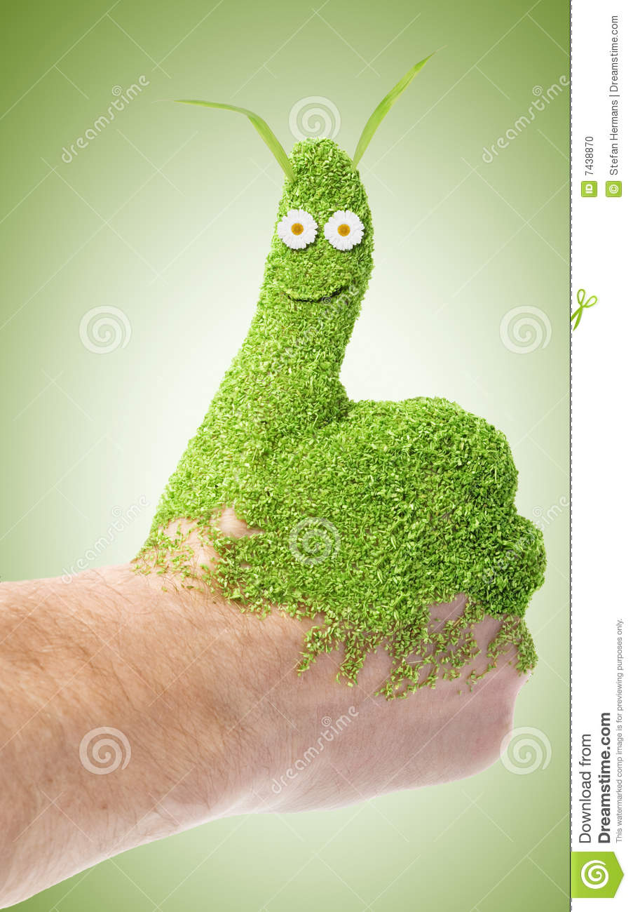 Green Thumb Stock Photo Image 7438870