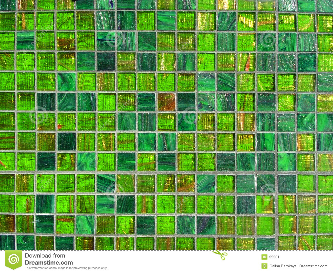 Green Tile Background Stock Image Image 35381