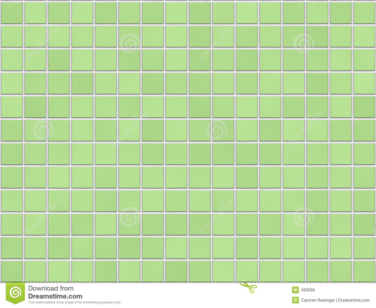Green Tile Background Stock Photo Image 490590