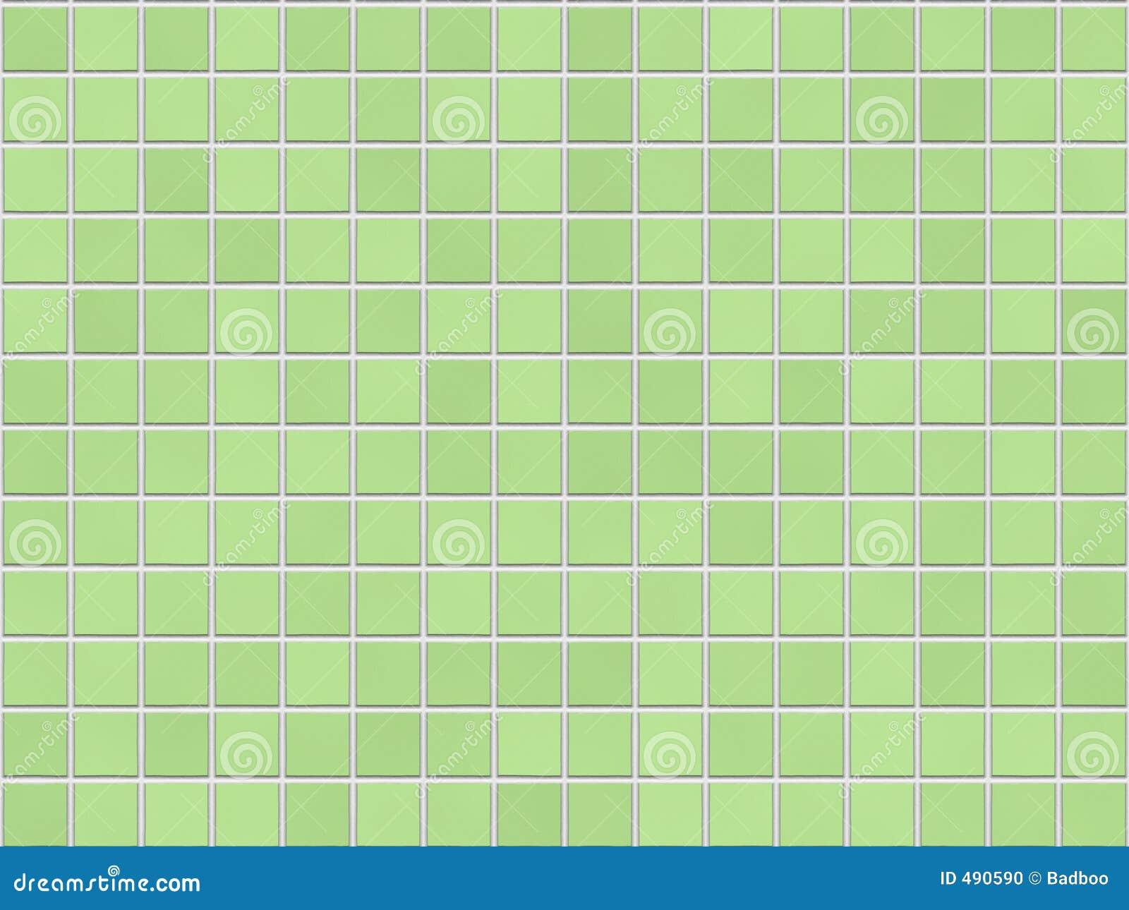 Tiles For Kids Bathroom Green Tile Background Stock Photo - Image: 490590