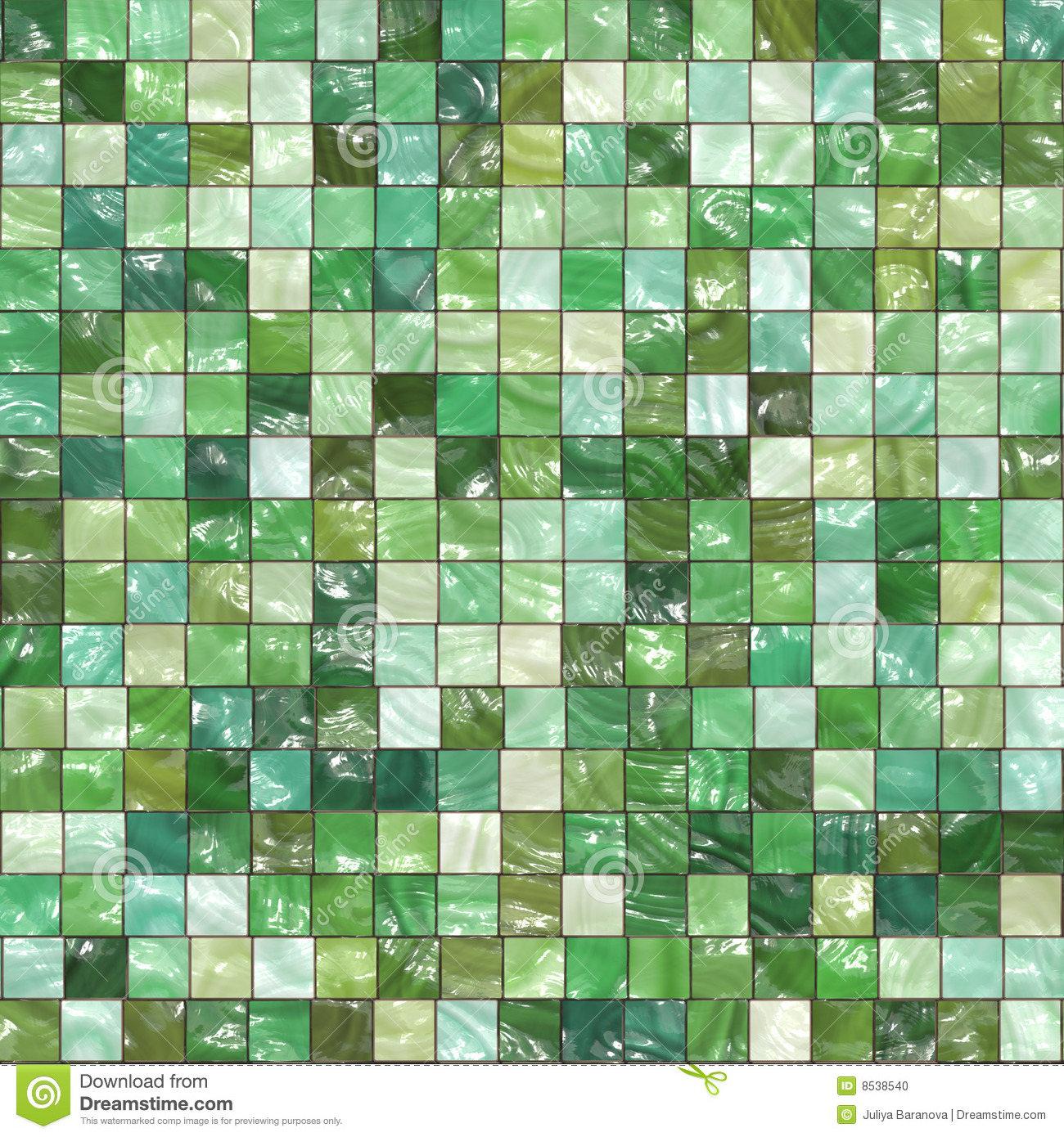 Green Tiles Background Stock Illustration Illustration Of
