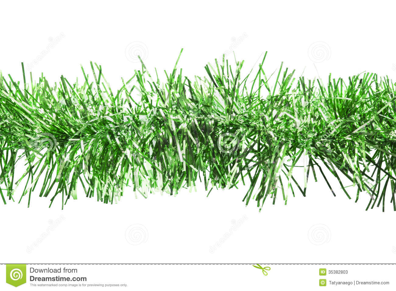 Green Tinsel Stock Photos - Image: 35382803