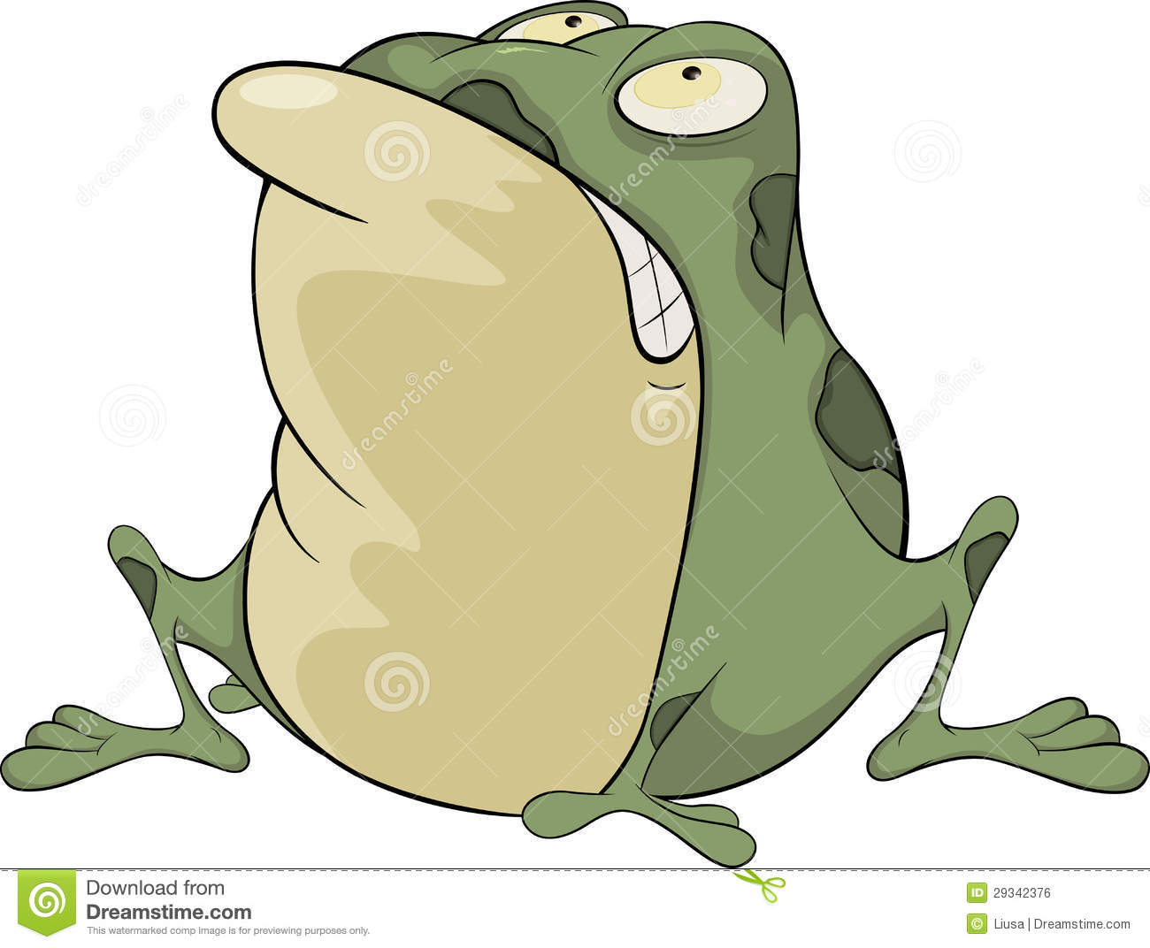 the green toad cartoon royalty free stock image   image