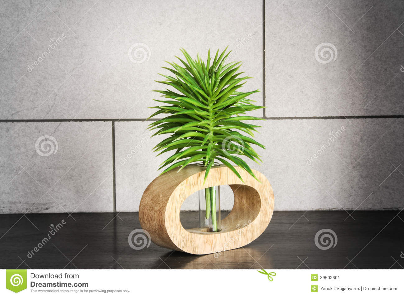 Green top tree with tube