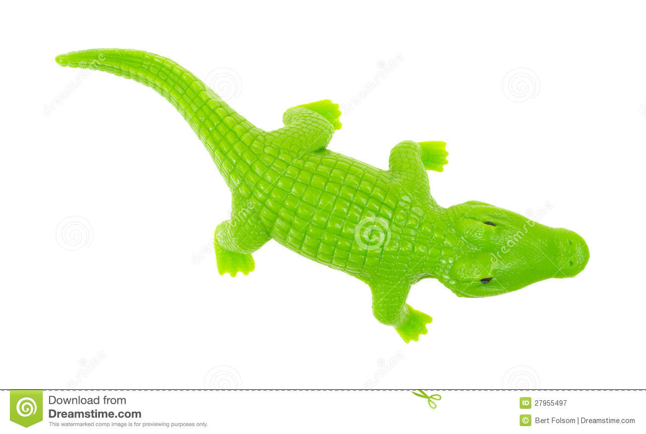 Green Toy Alligator Royalty Free Stock Photography Image