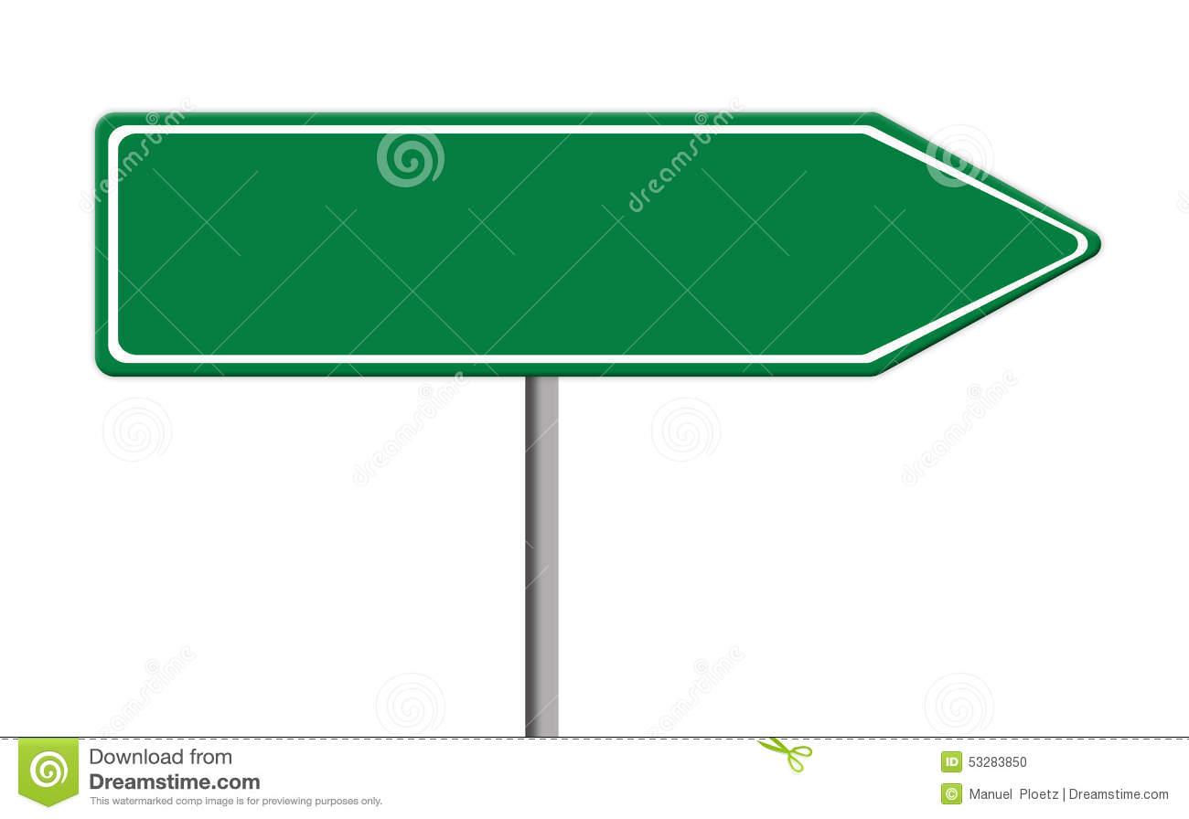 sign templates free downloads - green traffic sign template with copy space white