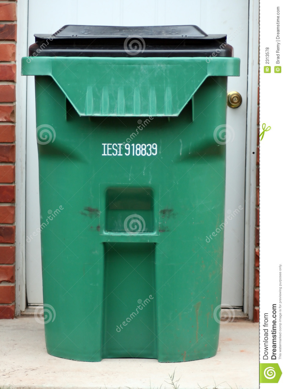 Royalty Free Stock Photo. Download Green Trash Can ...