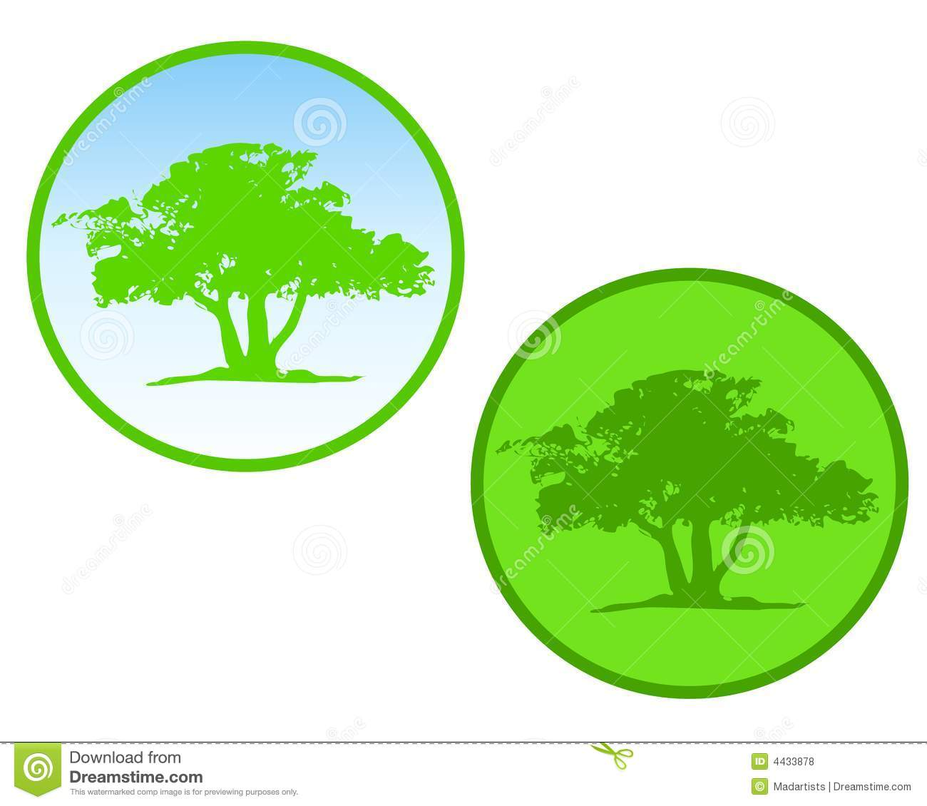 Green Tree Circle Icons Or Logos Royalty Free Stock Photos ...