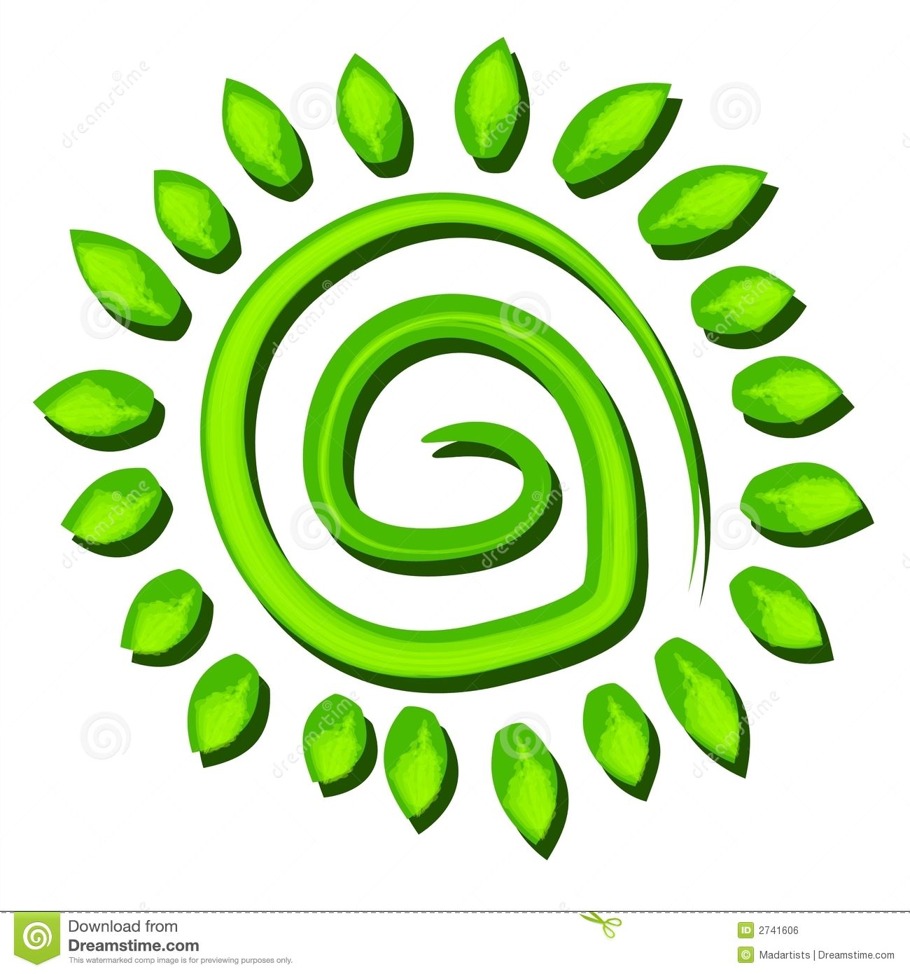 Green Tree Earth Symbol Spiral Royalty Free Stock Image ...